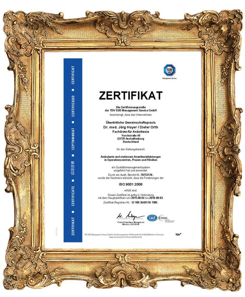 Rahmen Zertifikat 2018 842x1024 - Qualitätsmanagement